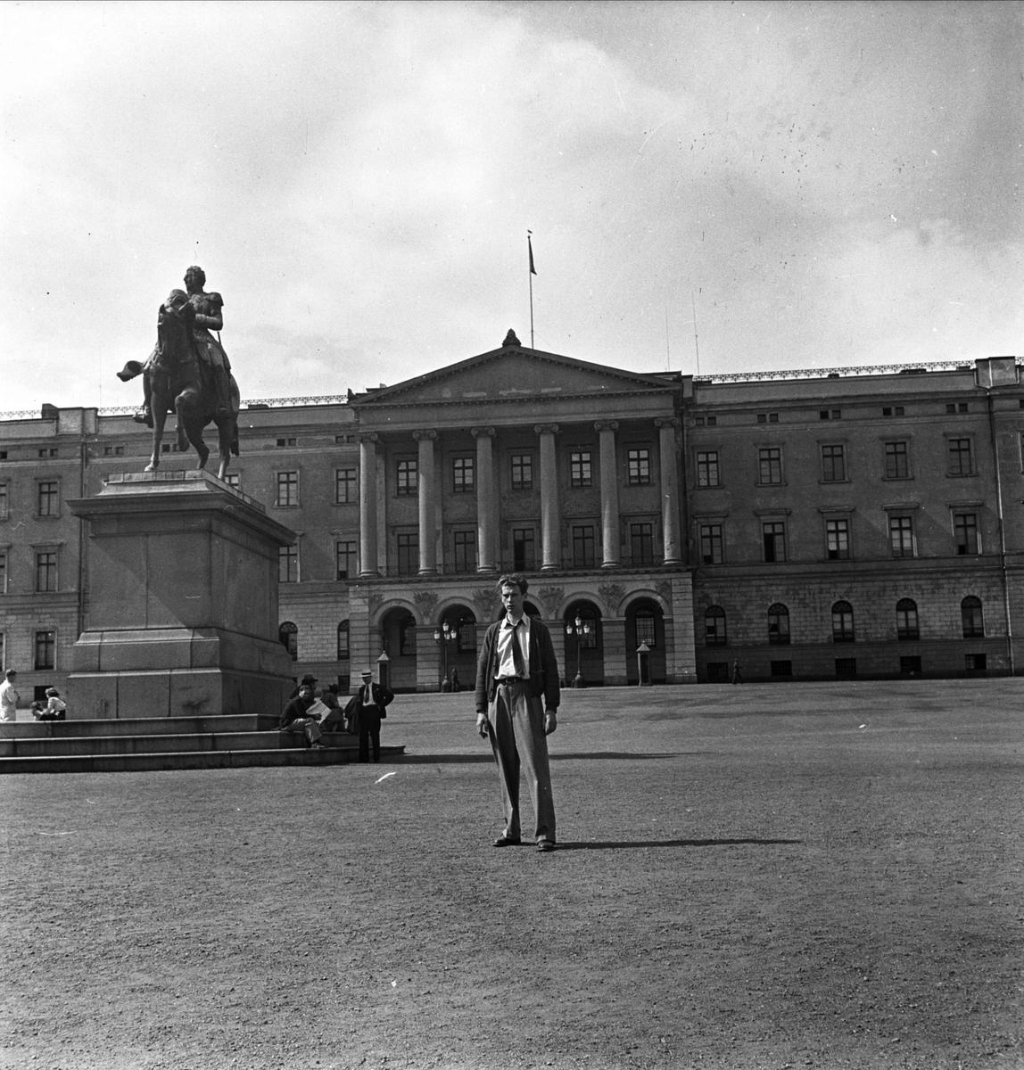 Det Kongelige Slott, Oslo, Norge 1947