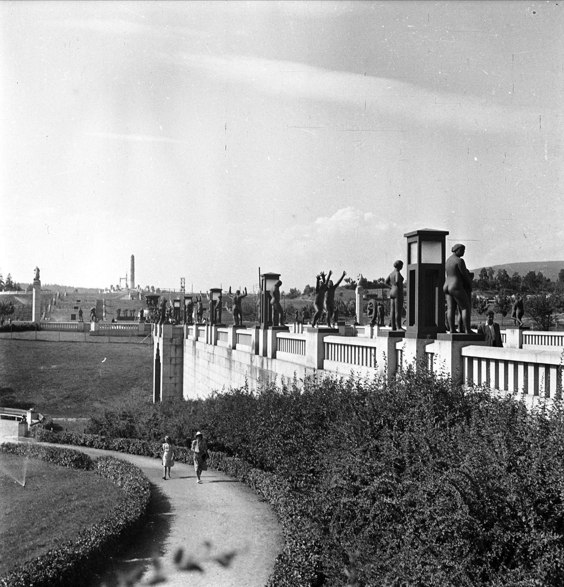 Vigelandsparken, Oslo 1947