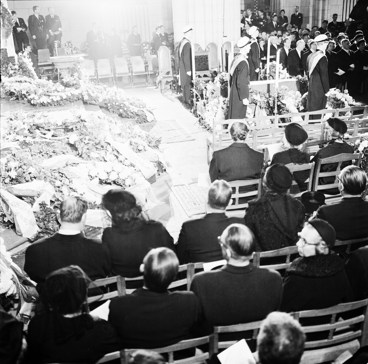 Dag Hammarskjölds begravning, Uppsala domkyrka, 29 september 1961
