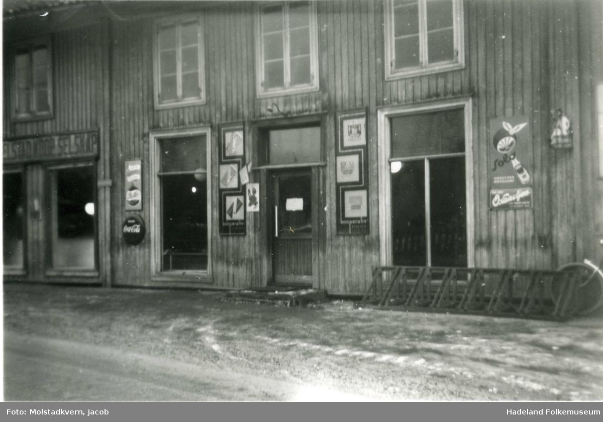 Butikken til Østre Tingelstad kooperative selskap i Sandbakken