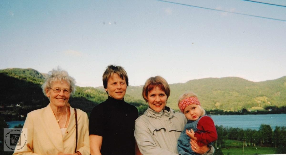 Fire generasjoner med utgangspunkt Smedsland i Grindheim.