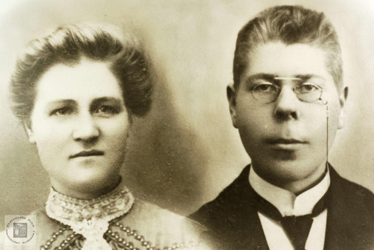 Ekteparet Berte og Ole Vårdal, Grindheim.