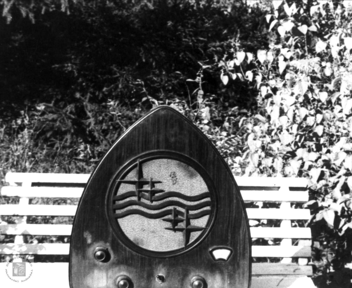 Radioen som Magnus Bergan hadde under krigen. Bjelland.