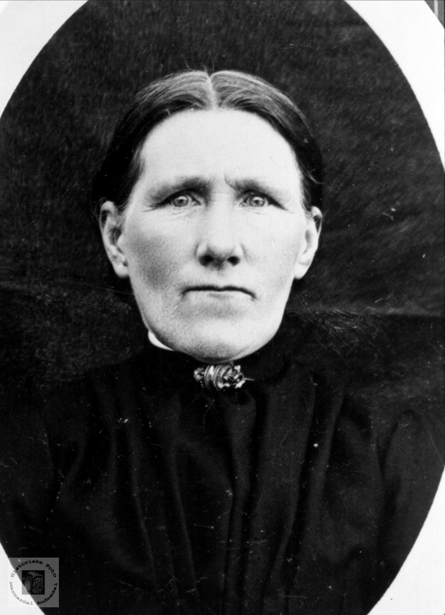 Portrett av Anna Sølvskar, Bjelland.