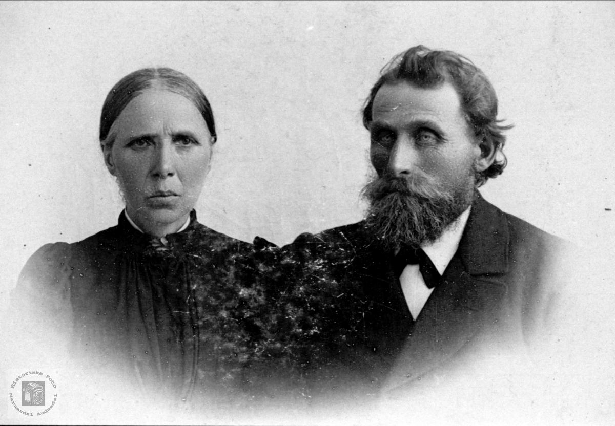 Portrett av Tomine og Kristen Kjær, Øyslebø.
