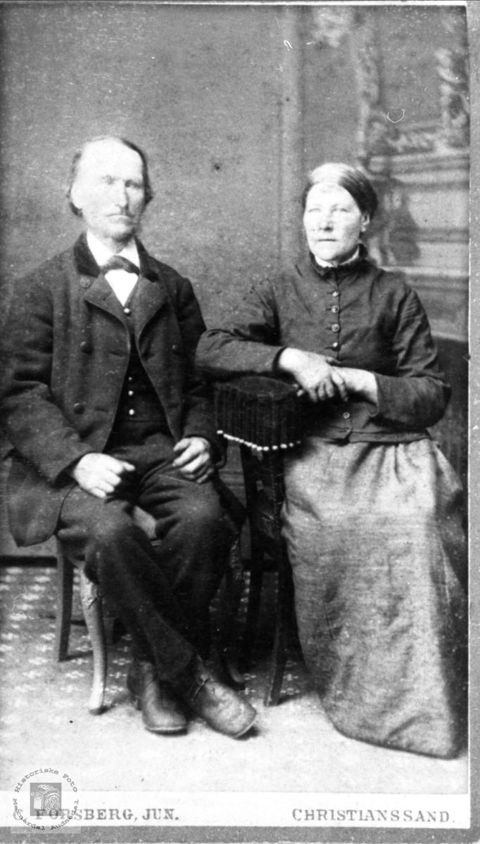 Ekteparet av Jørgen og Thone Ausland, Øyslebø.
