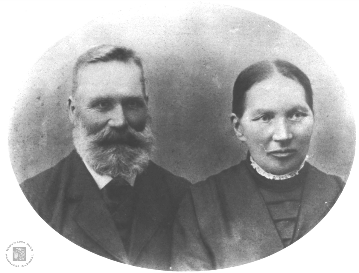 Ekteparet Aasine og Knud Birkeland, Øyslebø.