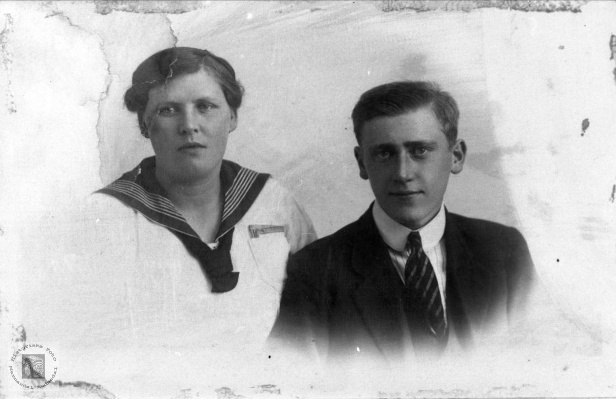 Ekteparet Ella og Anders Skaar, Øyslebø.