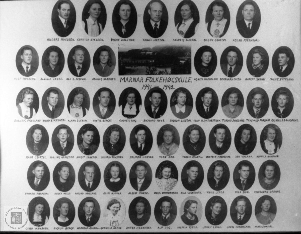 Marnar Folkehøgskole 1941-1942
