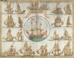 Admiral Skibet [Akvarell]