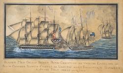 Slaget med Orlogs Skibet Prinds Christian og Twende Engelske