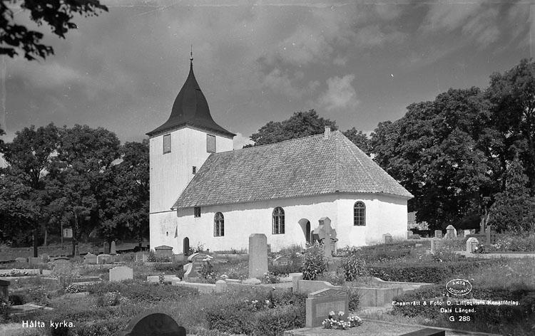 """Enligt AB Flygtrafik Bengtsfors: """"Lökeberg Hålta kyrka Bohuslän""""."""