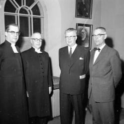 Kyrkoherde Gerhard Franck och landshövding Per Nyström