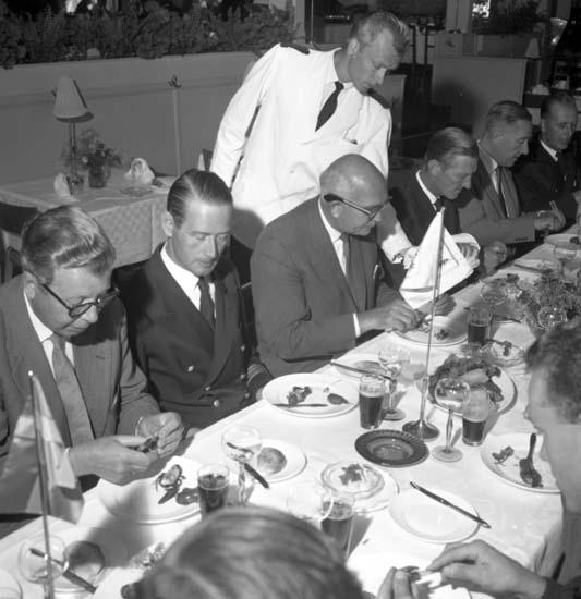 """Enligt notering: """"Lunc för flottan Gustavsberg 8/8 -59""""."""