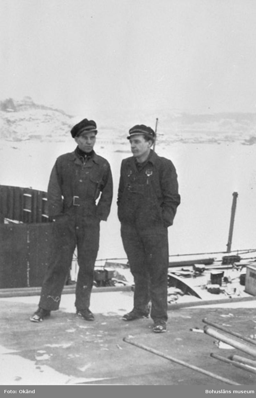 """Text till bilden: """"Heinz Kloth, Elmer Meister på varvet, ca 1952""""."""