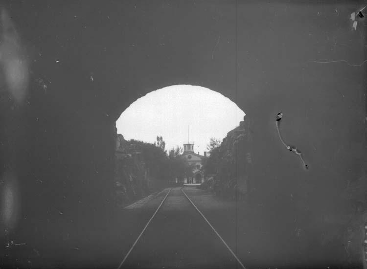 """Enligt text som medföljde bilden: """"Carlskrona. Tunneln 23/9 07."""""""