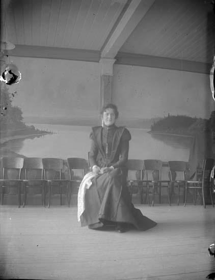 """Enligt text som medföljde bilden: """"Lysekil. På Lindbergs veranda. (S) 1898""""."""