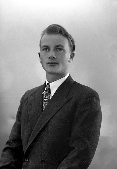 """Enligt fotografens journal nr 7 1944-1950: """"Johansson, Herr Stig Stenungsund""""."""