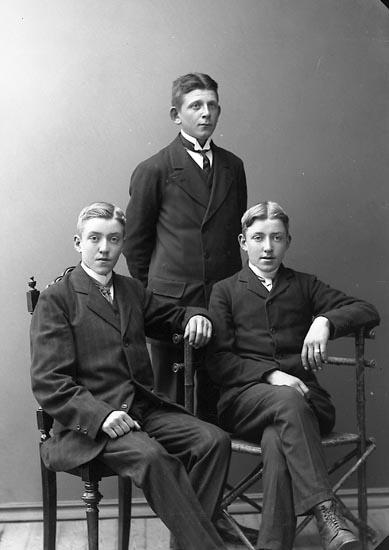"""Enligt fotografens journal nr 2 1909-1915: """"Stenborg, Gunnar Här""""."""