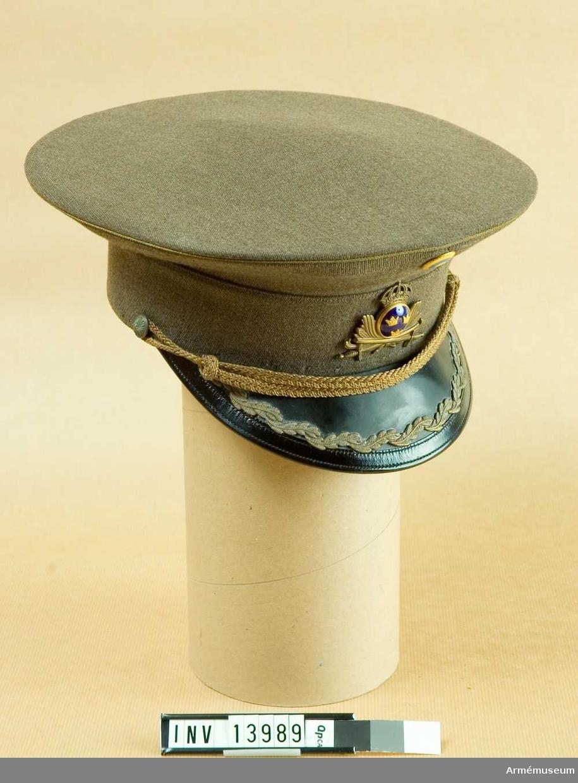 Mössa m/1939 för generalmajor vid Fortifikationen.Grupp C I.