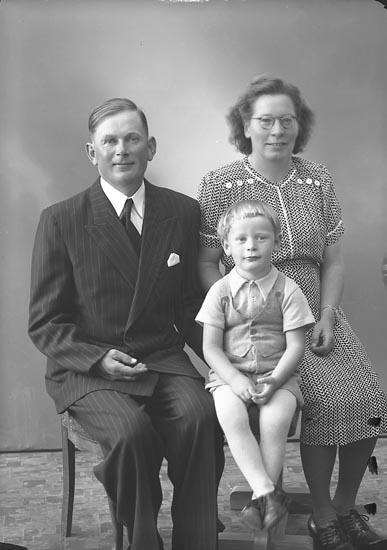 """Enligt fotografens journal nr 7 1944-1950: """"Andersson, Herr Algot Raröd, Jörlanda.""""."""