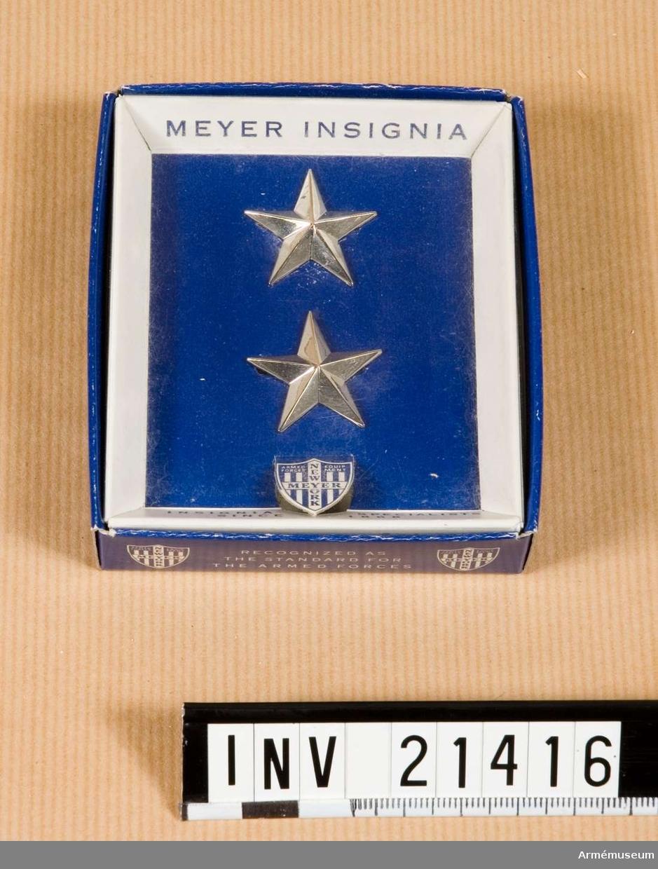 Grupp C I.  Stjärnor för general.