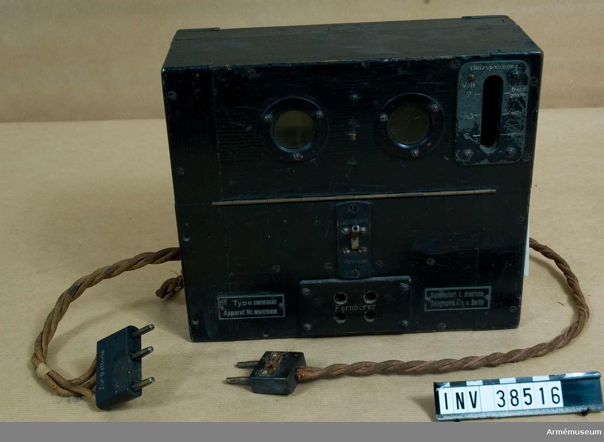 """Grupp H II.  På lapp som låg i: """"TONFREKVENSFÖRSTÄRKARE, omkr. 1920."""""""