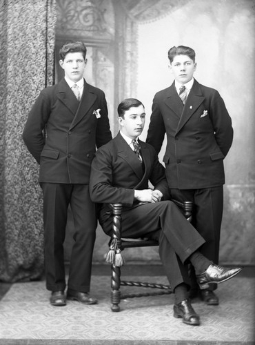 Yngve Hedlund, Sven Hemansson och Åke Hedlund 1930