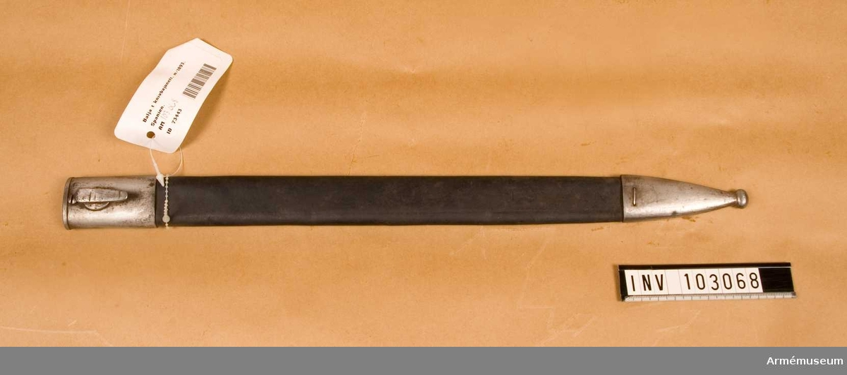 Balja till knivbajonett m/1893