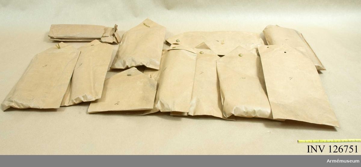 10 st kuvert med dragprover mm.