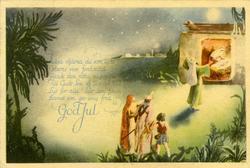 Notering på kortet: Helga stjärna, du som lyste Östens vise,