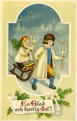 Notering på kortet: En Glad och trevlig Jul.