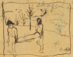 MANNEN, FLICKA OCH KVINNAN [Målning]