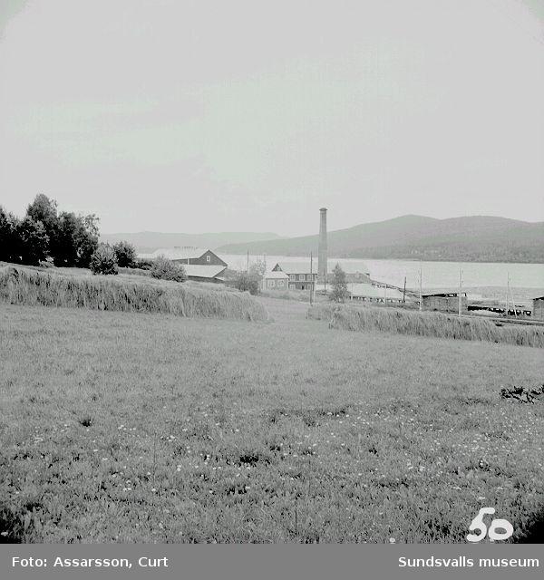 Åkermark och sågverk i Borgsjö, Erikslund.