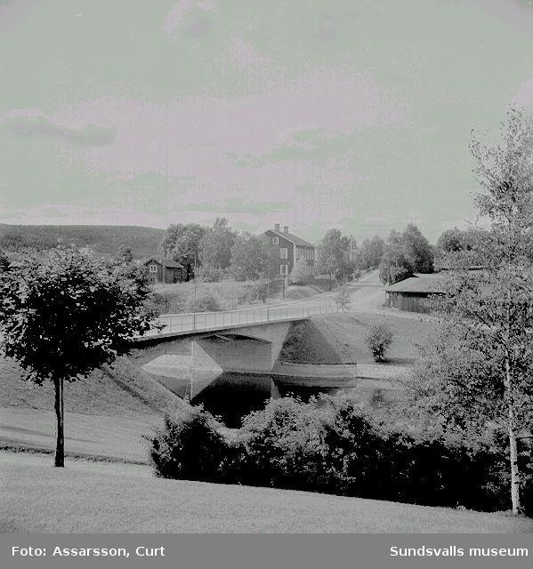 Västra bron (Widesbron, Videsbron) med Widegården. Västermalm.