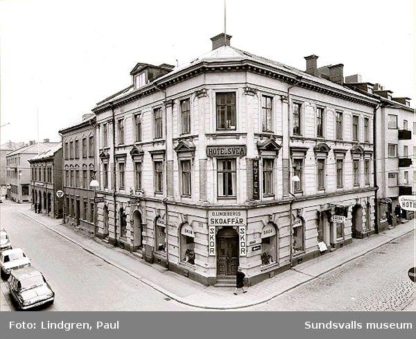Hotell Svea, som under åren 1907-1911 hette Hotell Örn. Rådhusgatan 11.