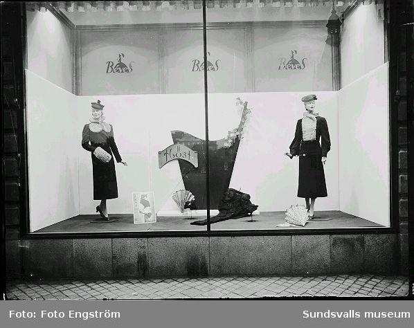Béves skyltfönster, höstkollektion.