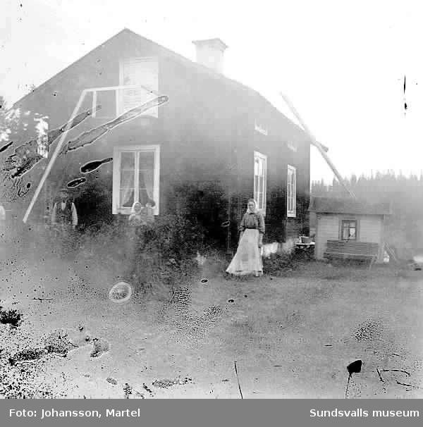 Familjen Albin och Kristina Muhrs bostad i Sörfors, här växte barnen Karl, Ingeborg och Hanna upp.