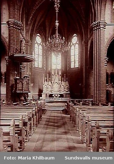 Interiör, Gustav Adolfskyrkan.