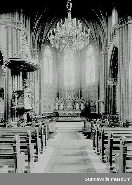 Gustav Adolfs kyrka, interiör.
