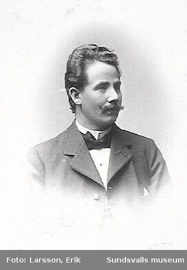 E.O. Vesterlund, lärare på Skönsbergs skola, 1911.