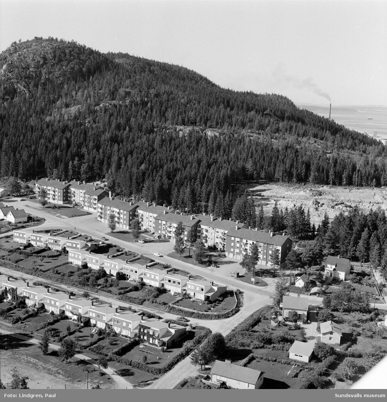 Flerbostadshus vid Nya vägen, villor vid Nya vägen, Soledevägen och Herkulesvägen, radhus vid Nya vägen och Soledevägen, Nolby, 1970.