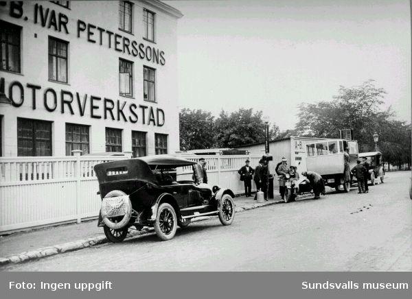 Ivar Petterssons motorverkstad på Rådhusgatan.