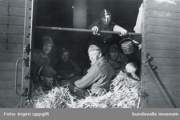 På väg till Trondheim i maj 1945.