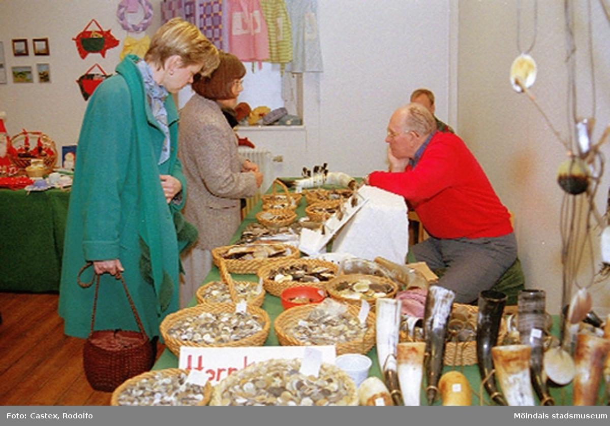 Julmarknad på Mölndals museum 1994-12-04.