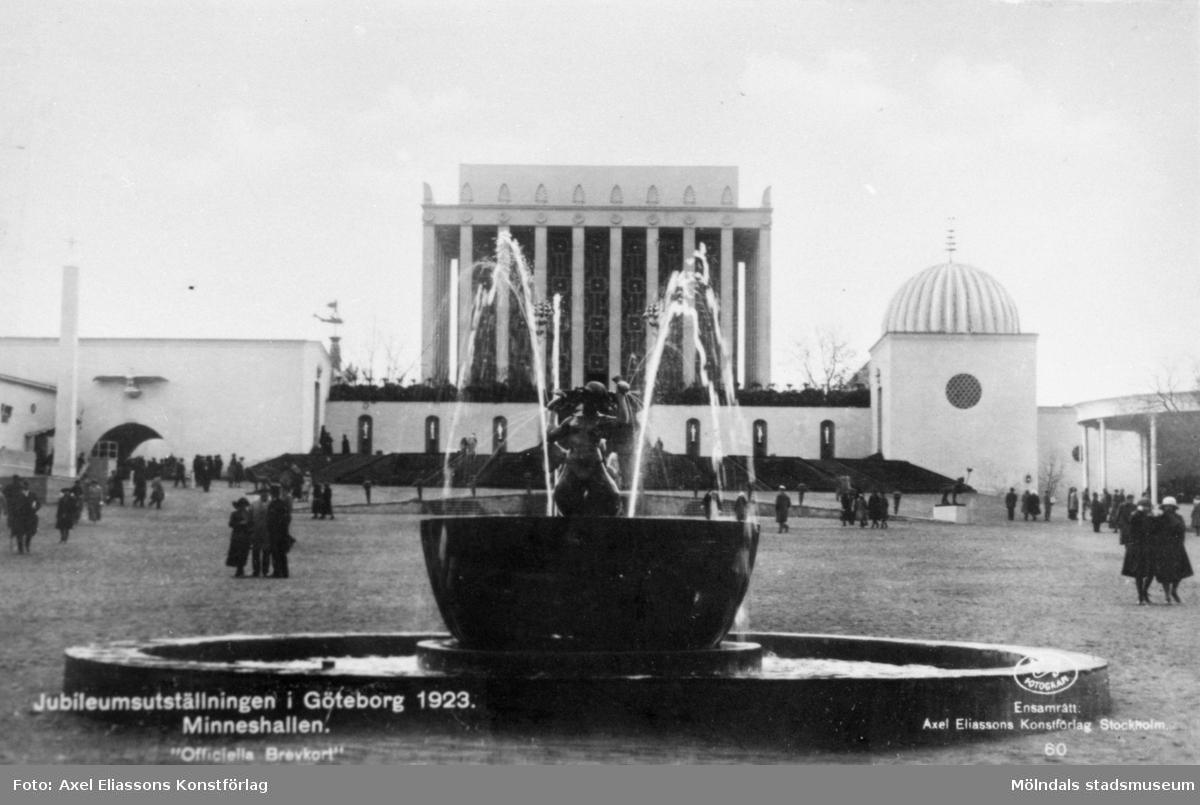 """""""Jubileumsutställningen i Göteborg. Minneshallen"""" från öppnandet i maj 1923."""