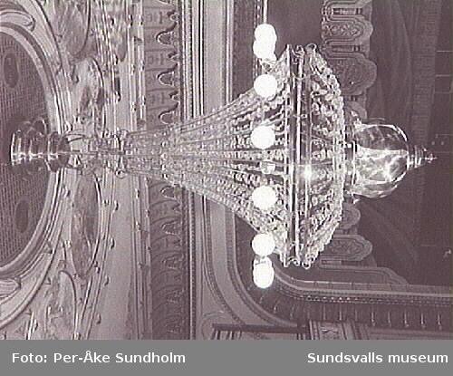 Interiörer från Sundsvalls Teater.