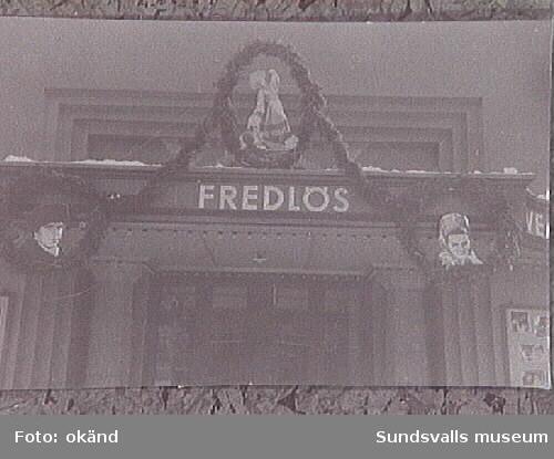 """""""Fredlös"""", julprogram på Svea-biografen."""