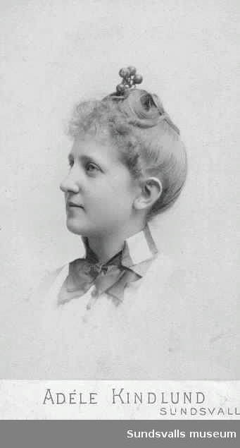 Porträtt av Hulda Wessblad.