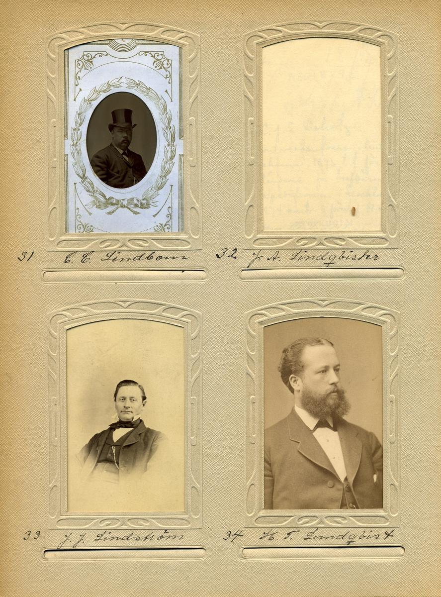 Porträtt av postmästaren i Haparanda 1855-1879, Johan Jacob Lindström.